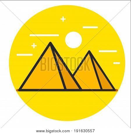 Pyramid vector icon. Illustration design graphic art