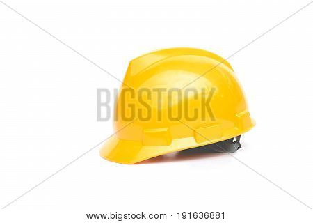 Construction Helmet yellow safety helmet on white background