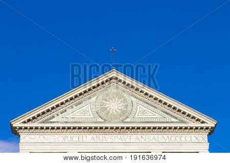 Church Decorations Detail. Santa Maria Novella