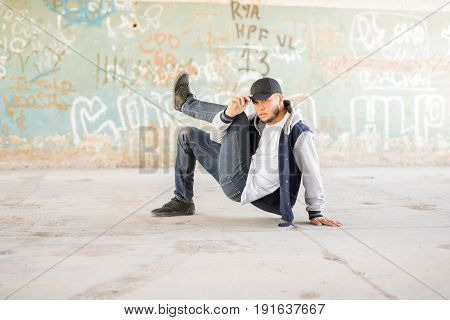 Breakdancer Showing Some Moves