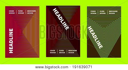 Minimal  halftone cover design. Abstract background. Template for flyer, banner, brochure geometric design. Gradient thin lines. Stock vector