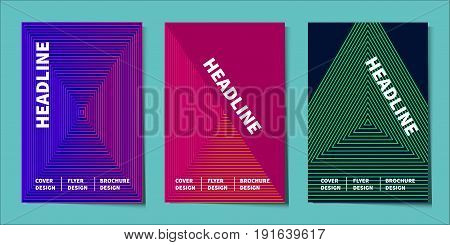 Minimal cover design. Abstract background. Template for flyer, banner, brochure geometric design. Gradient thin lines. Stock vector