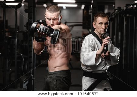 Martial Arts Fighters In Gym