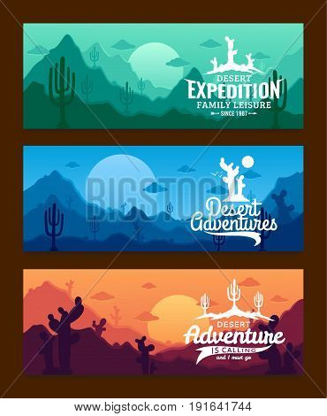 Desert Adventures Horizontal Banner Set