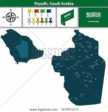Map Of Riyadh, Saudi Arabia