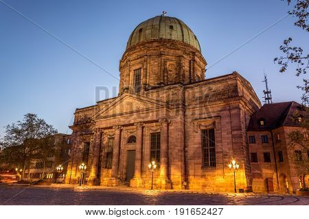 The St. Elisabeth Church In The Old Town Of Nuremberg, Germany