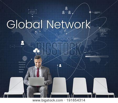 Global Network Community Internet Concept