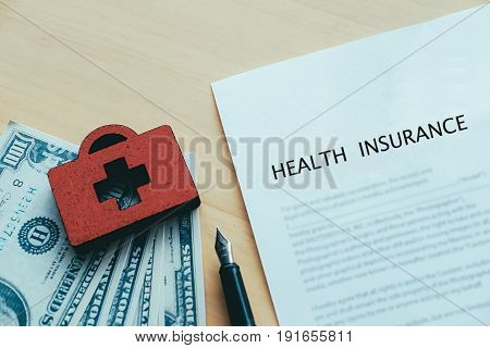 Life And Health Insurance Policy Concept Idea.