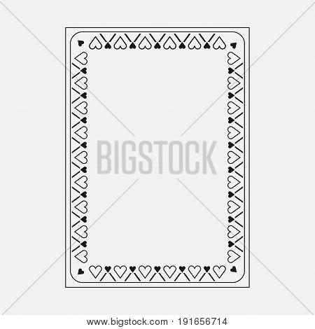 Frame image dark design decorative ornamental frame