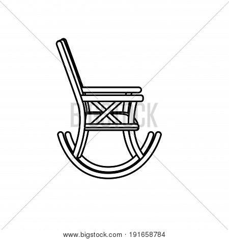 line comfortable chair to relaxation object icon vector illustration