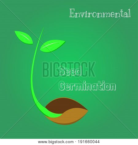 Seeds are germinating environmental symbol, plant seed