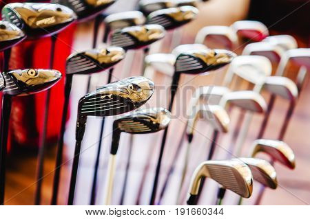 A Shiny Metal Golf Clubs For Sale