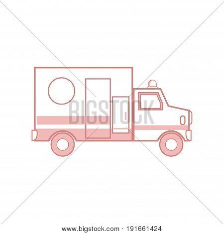 ambulance health care transport emergency urgent hospital vector illustration