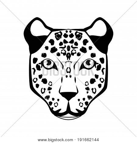 Wild animal jaguar icon vector illustration graphic design