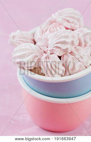 Homemade Marshmallows In Bowl
