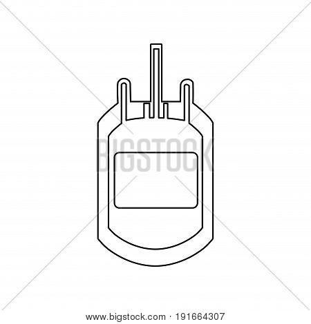 plastic bag blood donation transfusion vector illustration