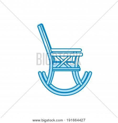 silhouette comfortable chair to relaxation object icon vector illustration