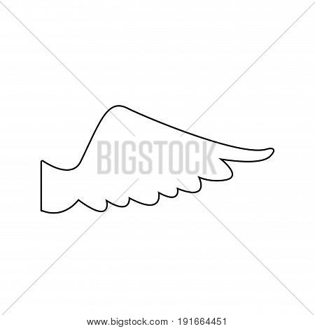 wing feather fly freedon symbol vector illustration