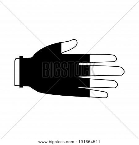 hand protective rubber gloves medical icon vector illustration