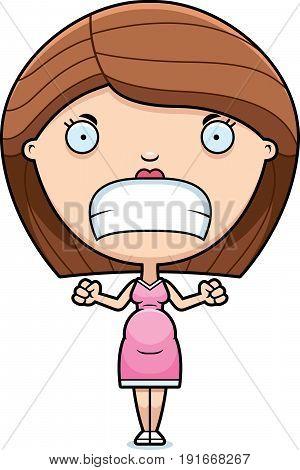 Angry Cartoon Pregnant Woman