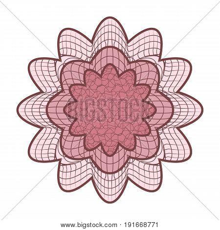 Guilloche Rosette Vector. Decorative Rosette Elements For Diploma Or Passport. Guilloche Background
