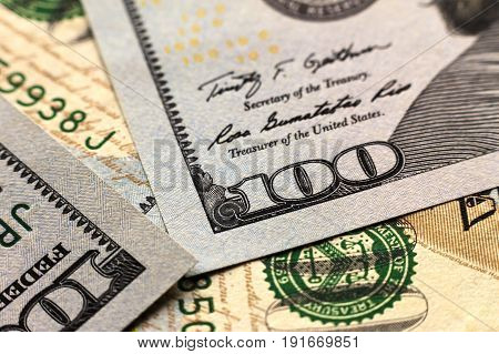 Us One Hundred Dollar Bills Money Background