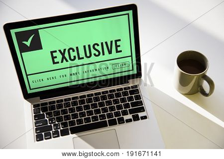 Graphic guaranteed premium and exclusive product on laptop