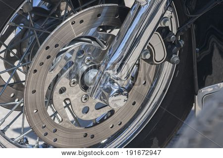 Disc brake of a modern tourist motorcycle