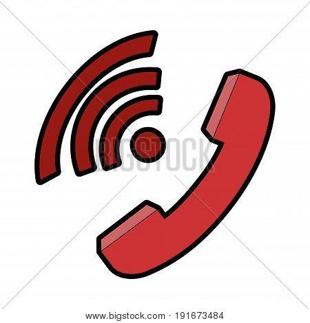 Telephone isolated symbol icon vector illustration graphic design