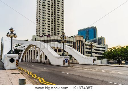 Elgin Bridge is a vehicular bridge across the Singapore River linking the Downtown Core to the Singapore River Planning Area located within Singapore's Central Area.