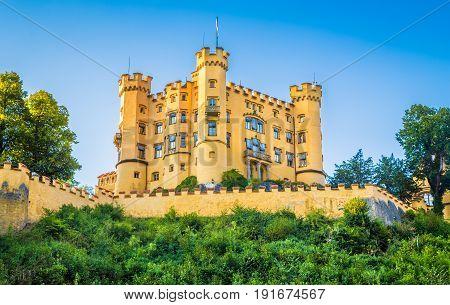 Famous Hohenschwangau Castle Near Fussen, Bavaria, Germany