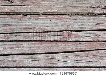 Red Vintage Planks. Horizontally Arranged. Texture. Background