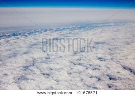 Above View Of White Clouds.