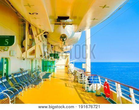 Kusadasi, Turkey - June 09, 2015: Cruise ship Splendour of the Seas by Royal Caribbean International at port of Kusadasi at Turkey on June 09, 2015
