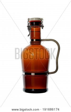 Homebrew Beer In Swing Top Growler With Handle