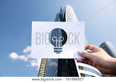 Creativity ideas perforated paper light bulb
