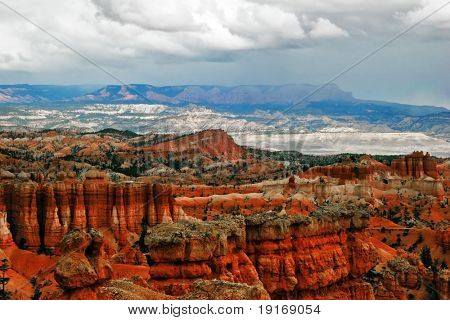 Slopes of Bryce canyon. Utah. USA