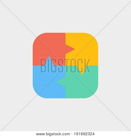The plication icon flat stock vector illustration