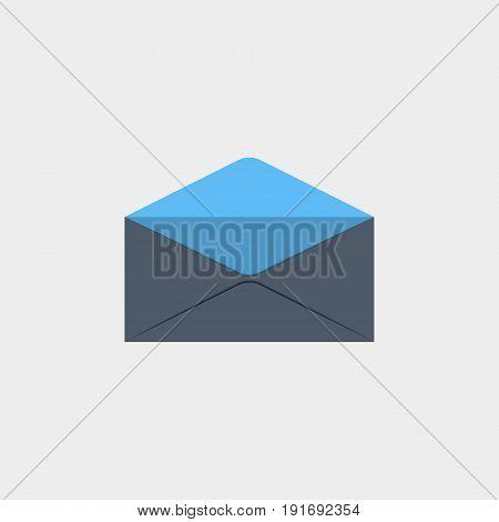 The Postal envelope icon flat stock vector illustration