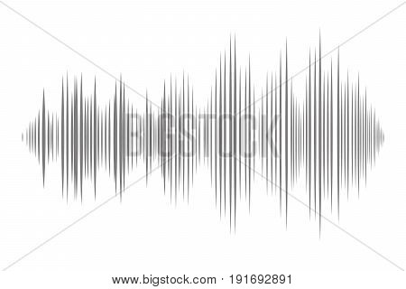 Graphic equalizer of a digital sound noise or music.