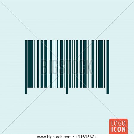 Barcode symbol. Bar code icon isolated. Vector illustration