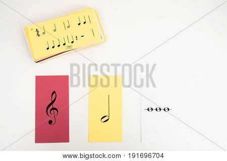 A Stack of Flash cards for learning music theory