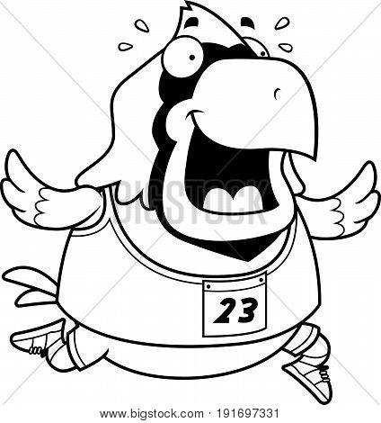 Cartoon Cardinal Running Race