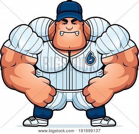 Angry Cartoon Baseball Player