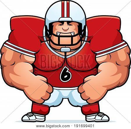 Angry Cartoon Football Player