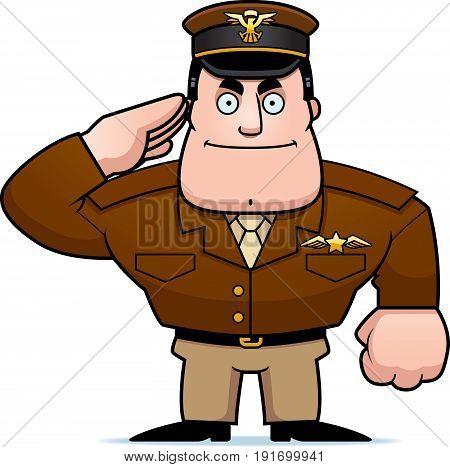 Cartoon Captain Salute