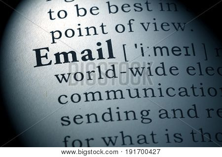 Fake Dictionary Dictionary definition of the word email.