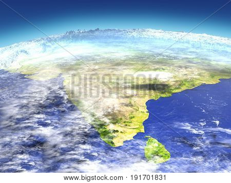 Indian Subcontinent From Space
