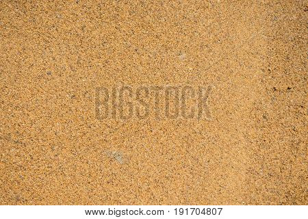 The texture of wet sand. Industrial sand for construction works. Natural material for bricks and concrete products - loose rock, which grains of feldspar, mica, quartz and other minerals.