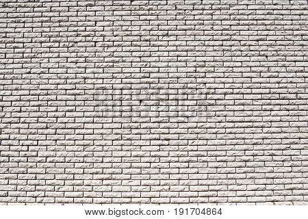 Wall of white bricks. Background construction of the walls of the building.